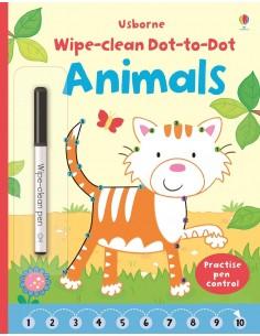 Wipe-Clean Dot to Dot Animals
