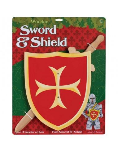 Espada + Escudo Medieval Emblema