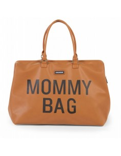 Bolso Mommy Bag Cuero Camel