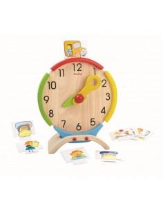 Reloj Actividades Madera