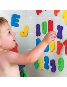 Letras y numeros baño