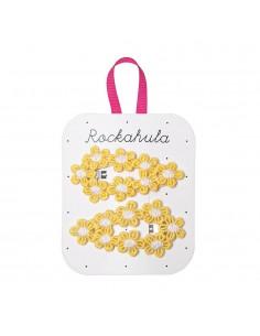 Clips Crochet Flores Amarillas