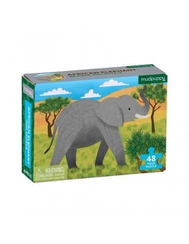 Mini Puzle Elefante Africano 48p
