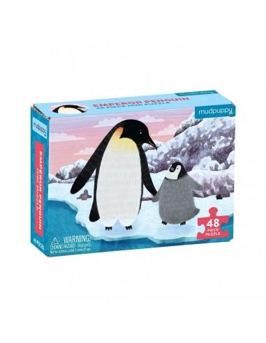Mini Puzle Pinguino Emperador 48p