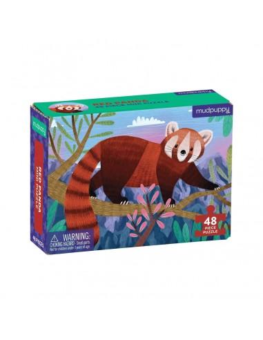 Mini Puzle Panda Rojo 48p
