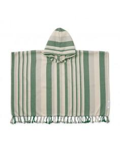 Poncho Roomie Azul/Verde