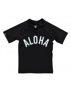 Camiseta Negra UPF50+ Aloha