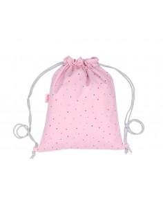 Mochila Saco Tela Dots Pink...