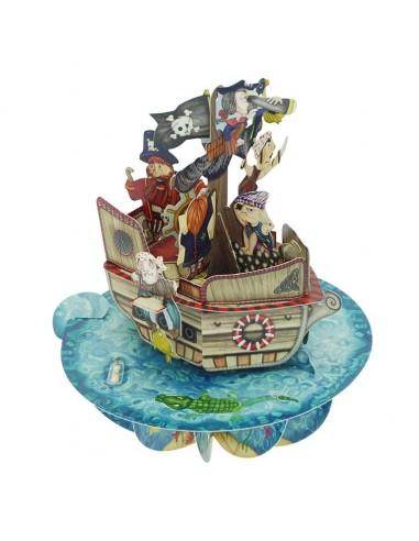 Postal 360º Barco Pirata