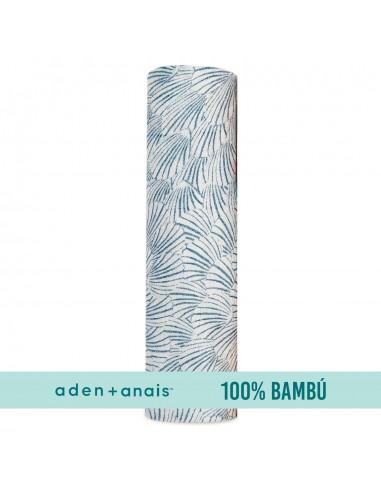 Muselina 100% Bambu 1,20 x 1,20 Blue...