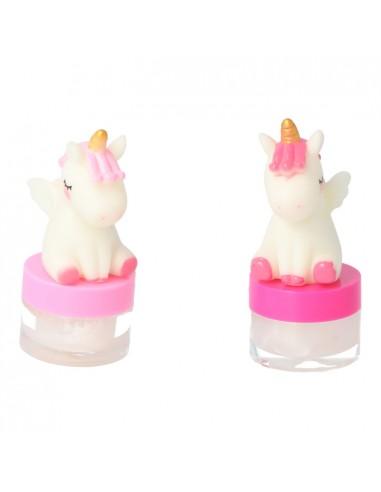 Brillo Labial Unicornio con Luz LED