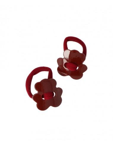 Pack de 2 gomas elasticas Osito Granate