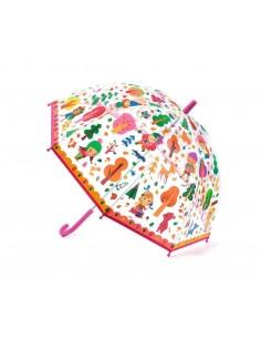Paraguas Transparente Bosque