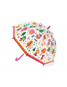 Paraguas Transparente Ranitas