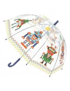 Paraguas Transparente Robots