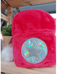Mochila Peluche Roja Estrella