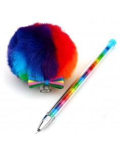 Boligrafo Pompon Multicolor