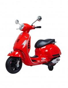 Moto Vespa eléctrica Roja