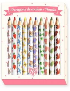 10 Mini lápices de colores...
