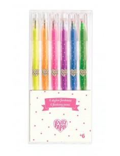 6 bolígrafos de gel...