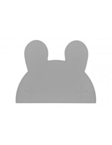 Salvamanteles Silicona Conejo Gris