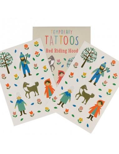 Pack Tatuajes Temporales Caperucita