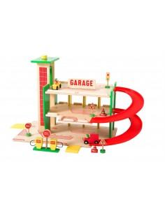 Garaje de Madera en la Ciudad