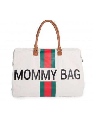Bolso Mommy Bag Franjas Verdes y Rojas