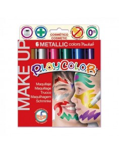 Pintura Facial Metalizada 6...