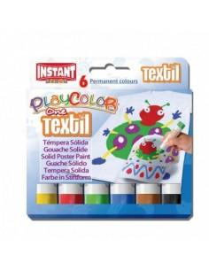 Temperas Solidas Textiles 6...